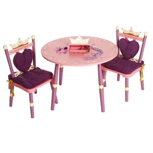 Levels of Discovery Princess Child's Table and Two Chair Set - 1