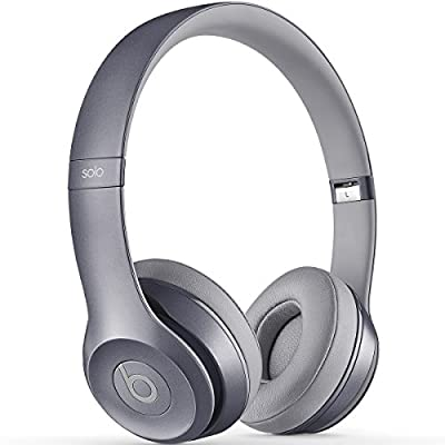 Beats by Dr. Dre Solo2 On-Ear Headphones, 3.5 mm Jack, In-Line Volume Control, Royal Collection, Stone Gray