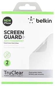 Belkin Screenguard F8W180cw2 Pack de 2 films de protection d'écran anti traces de doigts pour iPhone 5, iPhone 5S et iPhone 5c