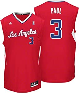 NBA Los Angeles Clippers Chris Paul #3 Youth Replica Road Jersey, Red by adidas