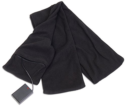 Check Out This Heated Scarf Battery Operated Heating Fleece Scarf - Unisex Design Black Warming Neck...