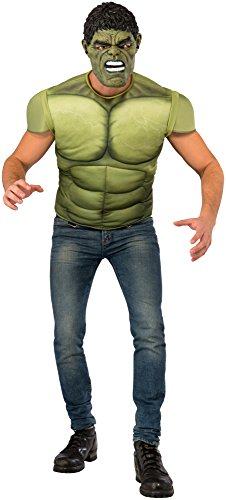 Rubie's Men's Avengers 2 Age of Ultron Hulk Muscle Chest and Mask, X-Large - 1