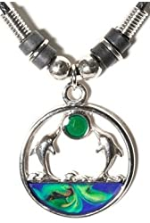 Dolphins Under the Sun Mood Necklace