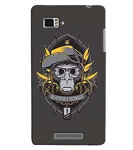 TOUCHNER (TN) Blackout Monkey Back Case Cover for Lenovo Vibe Z K910