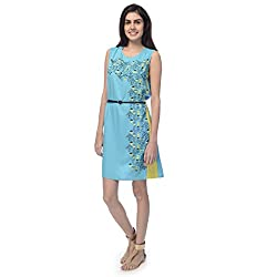 Desi Belle Casual Sleevless Solid Women's Dress