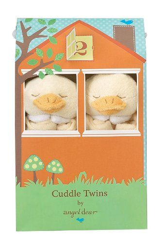 Angel Dear Cuddle Twin Set, Yellow Duck - 1