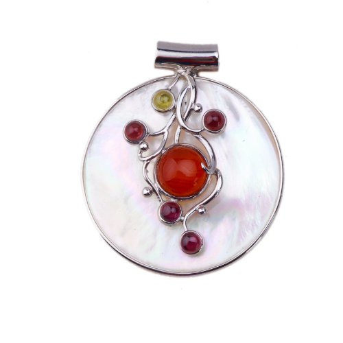 ANYA Mother of Pearl Pendant with Beads