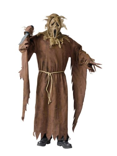 Fun World Costumes Men's Scary Ghost Face Scarecrow Costume