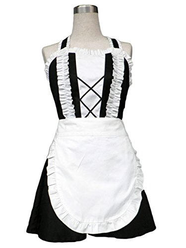 TOMSUIT Cosplay Sleeveless Halter French Maid Adult Halloween Costumes