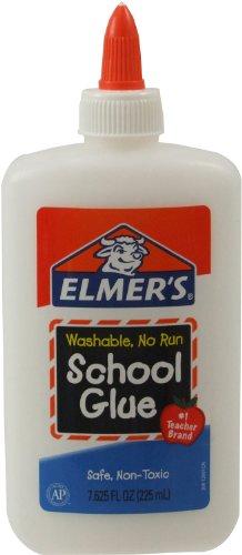 Elmer's Washable No-Run School Glue, 7.625 oz,  1 Bottle (E308)
