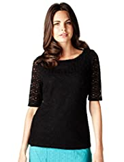 Per Una Spot Circle Lace Top