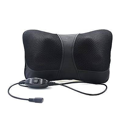 Raking® Shiatsu Deep Kneading Massage Pillow with Heat / Car / Office Chair Massager, Neck, Shoulder