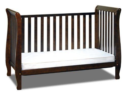 Athena Naomi 4 in 1 Crib with Toddler Rail, Espresso