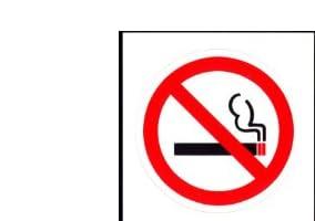 禁煙マーク小ステッカー8033(アイフォン、スマホ、スマートフォン、携帯電話・ヘルメット、バイク、スクーター、車、etc貼れます。)