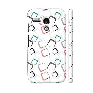 Colorpur Geometric Squares Royal Shapes Pattern Designer Mobile Phone Case Back Cover For Motorola Moto G1 | Artist: Designer Chennai