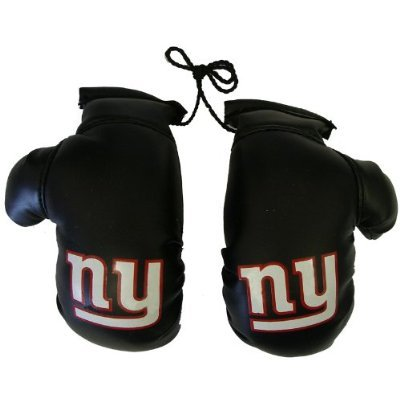 New York Giants NFL Rearview Mirror Mini Boxing Gloves