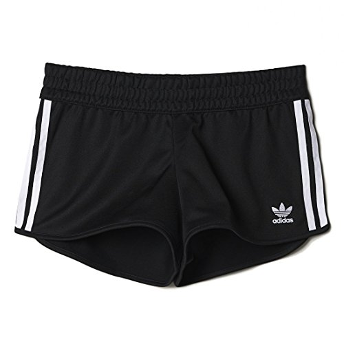 Adidas 3Stripes Shorts Pantaloncini Donna, Nero, 38