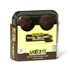 Udi's Gluten Free Double Chocolate Muffins (1 Case)