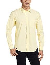 Basics Men's Casual Shirt (8907554064811_16BSH34242_Medium_Yellow)