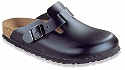 Birkenstock Boston Leather Clog,Black,40 M EU