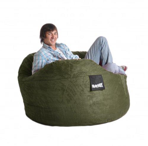 Lovesac Sofa For Sale: Chairs And Sofas: Cheap 5' Olive Green Foam Bean Bag Chair