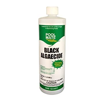 Pool Mate 1-2190 Black Algaecide for Swimming Pools, 1-Quart