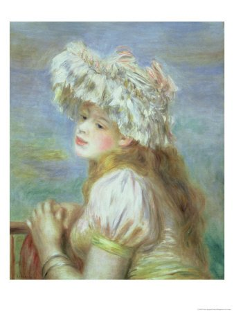 Portrait of a Young Woman in a Lace Hat, 1891 by Pierre-Auguste Renoir