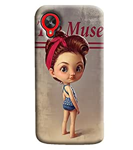 Blue Throat Cartoon The Muse Printed Designer Back Cover/Case For LG Google Nexus 5