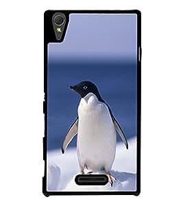 Penguin 2D Hard Polycarbonate Designer Back Case Cover for Sony Xperia T3