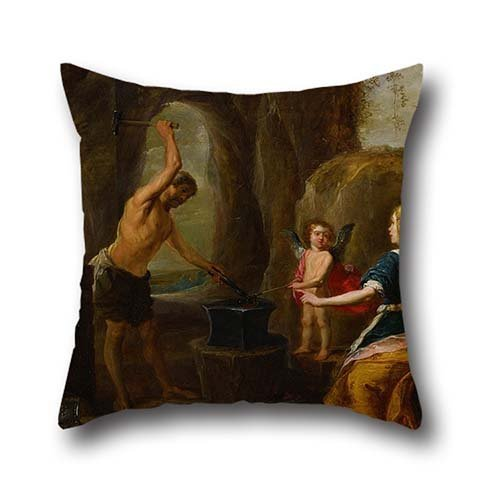 The Oil Painting David Teniers, The Elder - Venus Visiting Vulcan's Forge Pillow Covers Of ,16 X 16 Inches / 40 By 40 Cm Decoration,gift For Chair,car,club,christmas,birthday,teens Girls (twice Sides) (Wine Of Fire Vulcan compare prices)