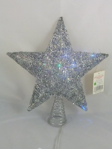 Christmas Concepts 25Cm Silver Tree Top Star With Colour Changing Led Lights - Ra143