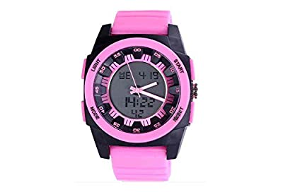 Pink Mens Sport Watches Silicone Smart Dive Womens Digital Watches by Szeretet Store