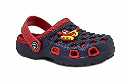 PHEDARUS Boys Comfortable Blue & Red EVA Clogs (PHBLUEREDSHIP0013, 18)