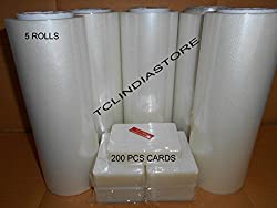 Tclindia lamination paper 100 meter 5 rolls 9 inch size + 200 punches free shipping all over india
