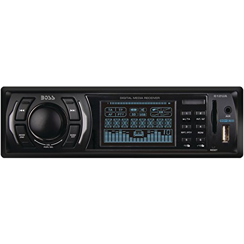BOSS AUDIO 612UA Single-DIN MECH-LESS  Receiver (Land Rover Mobile Phone compare prices)
