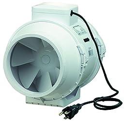 VENTS-US TT 200 Mixed Flow In-Line Fan, 8-Inch