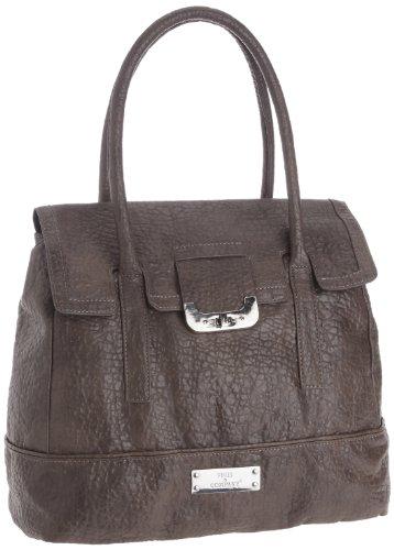 Friis & Company Elken Cross-Body Bag Womens Gray Grau (Dark Grey) Size: 40x27x14 cm (H x W x D) (38x27x17 cm (B x H x T) EU)
