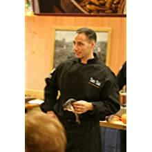 Chef Revival J017BK Cotton Cuisinier Long Sleeve Chef Jacket with Cloth Covered Button, Small, Black