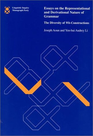 essays on the representational and derivational nature of grammar This book can be read on two levels: as a novel empirical study of wh- interrogatives and relative constructions in a variety of languages and as a theoretical investigation of chain formation in grammarthe book is divided into two parts.