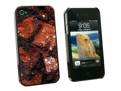 Chocolate Brownies - Snap On Hard Protective Case for Apple iPhone 4 4S - Black