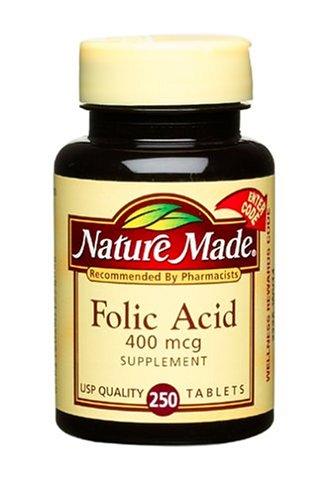 Nature Made Folic Acid 400Mcg, 250 Softgels (Pack Of 6)
