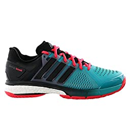 adidas Energy Boost Tennis Shoes, Shock Green/Black/Shock Red, 12 M US