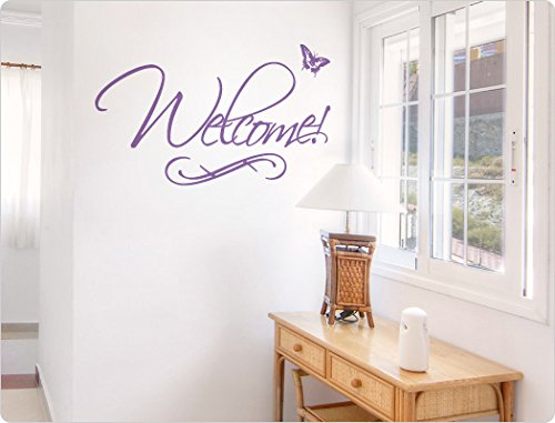 i love wandtattoo 10107 wandtattoo englischer spruch welcome flur wandaufkleber wandsticker. Black Bedroom Furniture Sets. Home Design Ideas