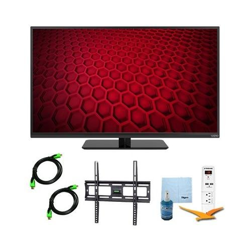 E390-B - 39-Inch Led Hdtv 1080P 60Hz Plus Mount & Hook-Up Bundle. Bundle Includes Tv, Flat Tv Mount, 3 Outlet Surge Protector W/ 2 Usb Ports, 2 -6 Ft High Speed Hdmi Cables, Performance Tv/Lcd Screen Cleaning Kit, And Cleaning Cloth.
