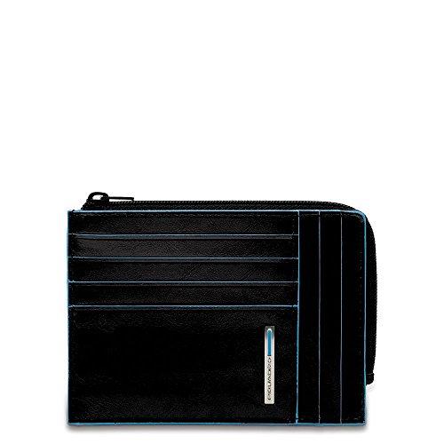 Piquadro PU1243B2 Portafoglio, Collezione Blu Square, Nero