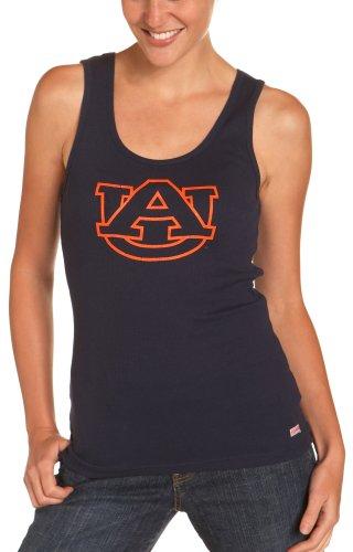 NCAA Auburn Tigers Junior's Ribbed Tank Top, Small, Navy