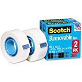 Scotch® Removable Tape 811-2PK, 3/4-inch x 1296 Inches, 2-Pack