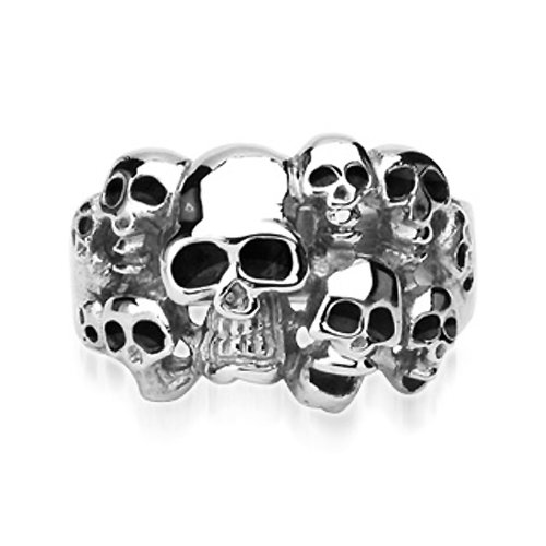 Surgical Stainless Steel Biker Ring with