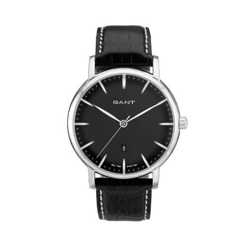 GANT W70431 - Reloj analógico de cuarzo para hombre con correa de piel, color negro
