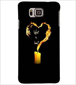 PrintDhaba Love Quote D-2224 Back Case Cover for SAMSUNG GALAXY ALPHA (Multi-Coloured)